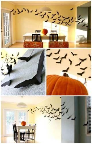 Wunderschöne und lustige Dekoration in Halloween