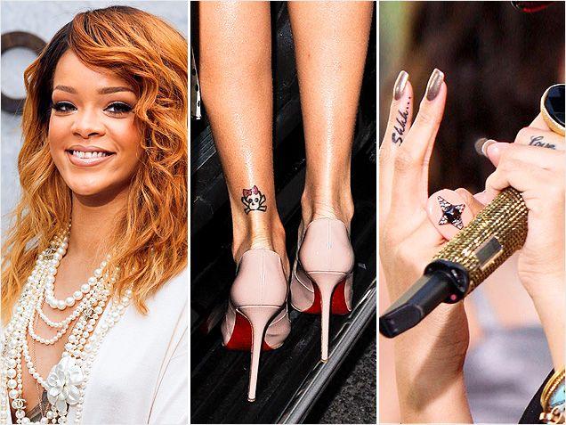 Rihanna-Winzige Promi-Tattoos