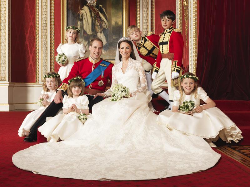 Blumenmädchen und Ringträger auf Willam & Kate´s Hochzeit