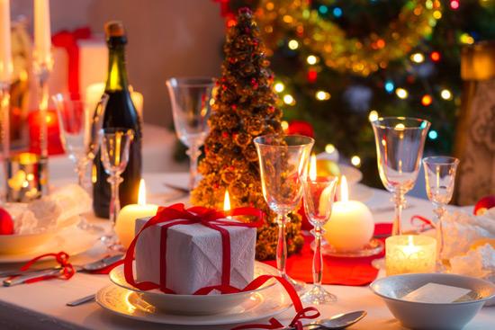 Weihnachts geseckte Tisch