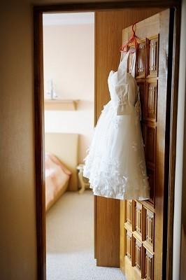 Weißes sexy Mini Brautkleider Online günstig
