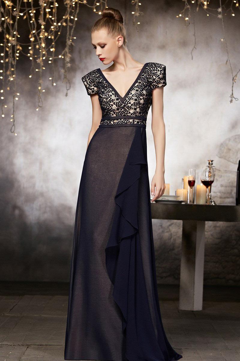 Abendkleider V Neck