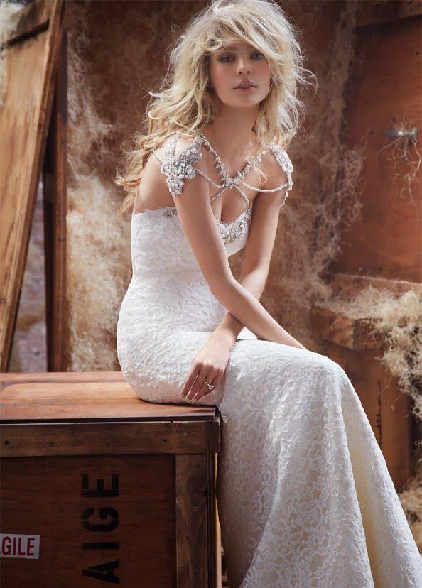 Schönes Brautkleider mit Ärmel