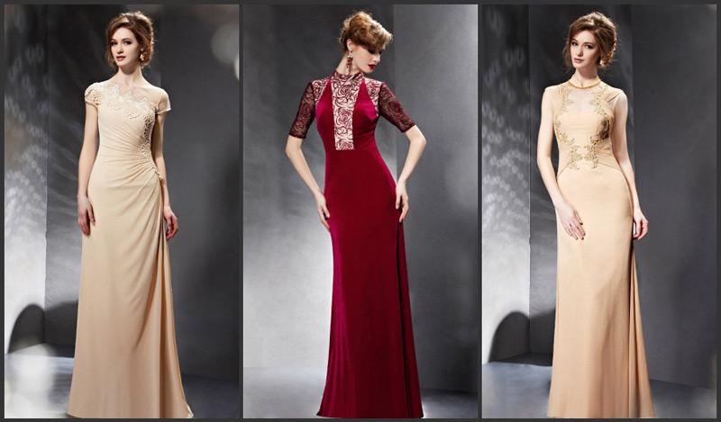 Lange Etui Linie Abendkleider