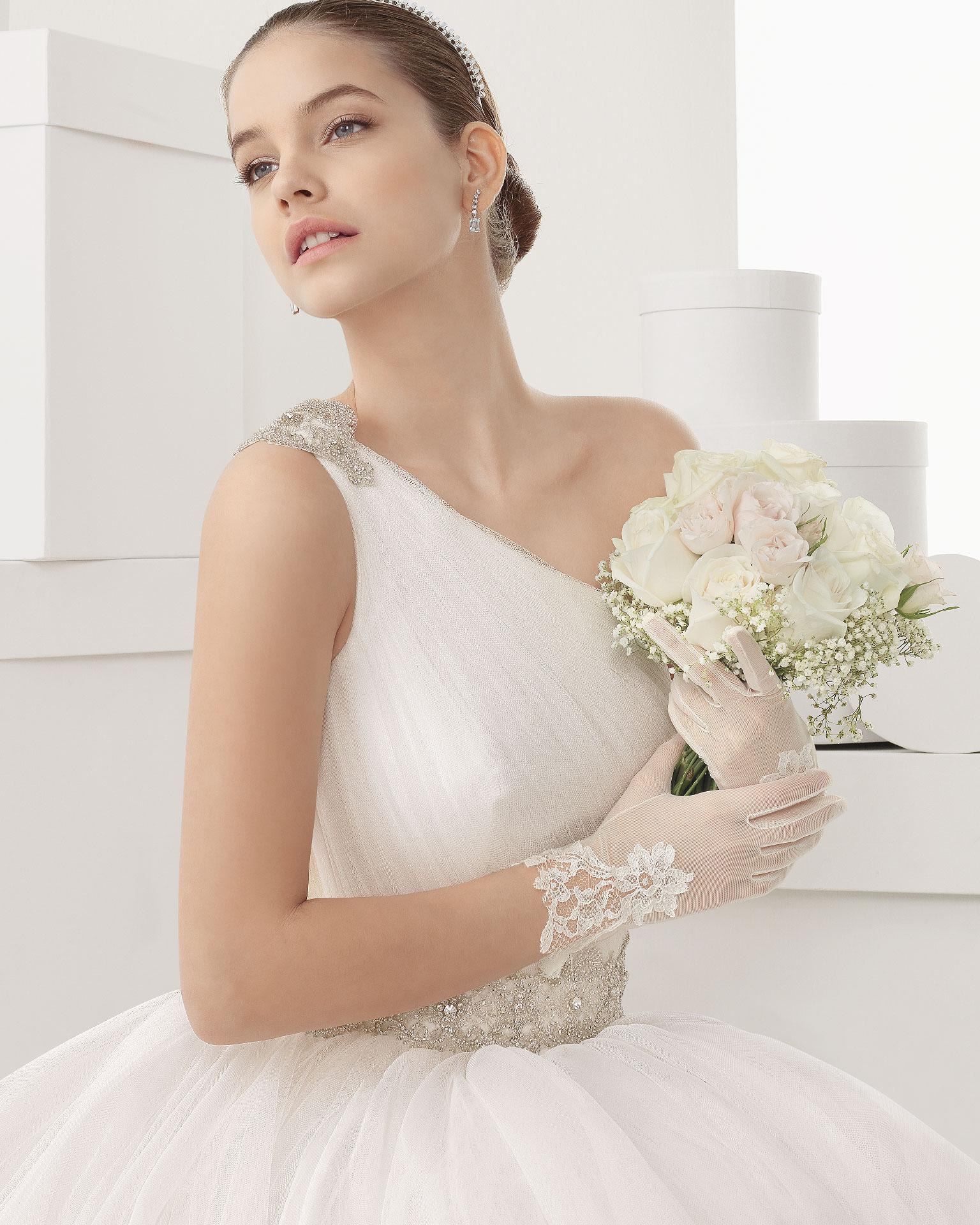 Schönes langes ein Schulter Brautkleider