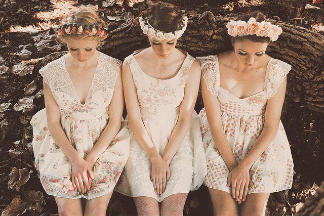 Blumenkronen  für Brautjungfern