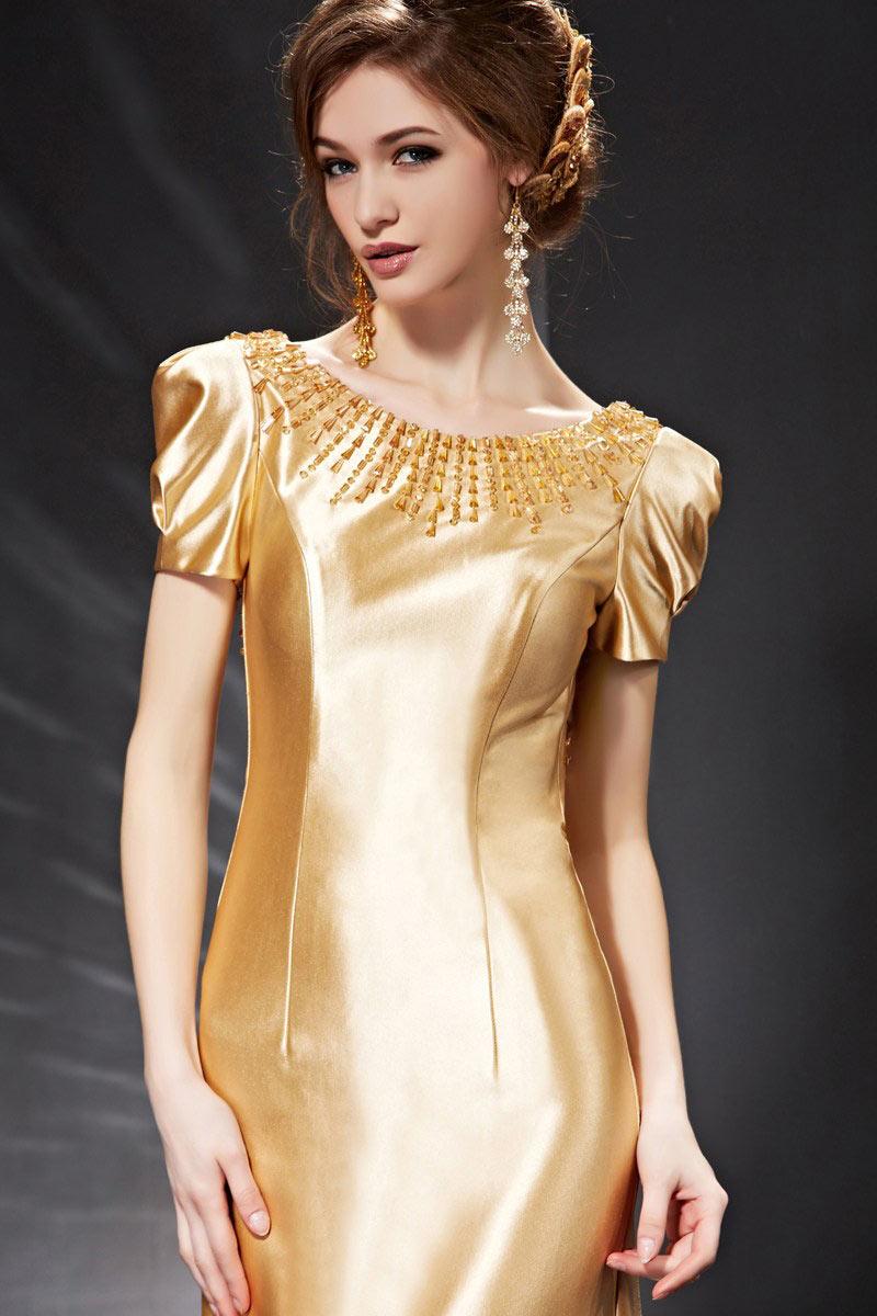 Goldes luxus Abendkleider
