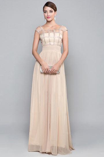 Schönes langes A Linie Abendkleider