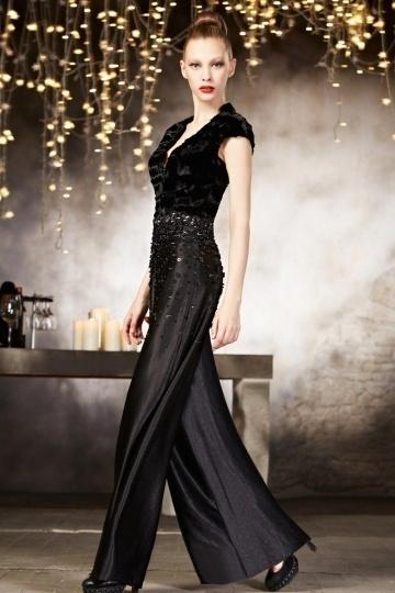 Elegantes schwarzes Hosenrock