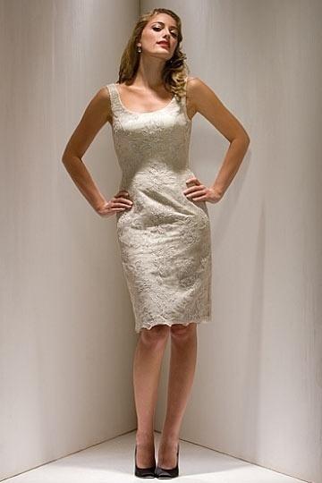 Schönes kurzes weißes Partykleid
