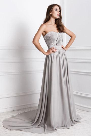 Elegantes Abendkleider mit Hof Schleppe