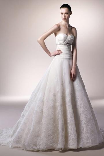Schönes A LInie Ivory Brautkleider aus Organza