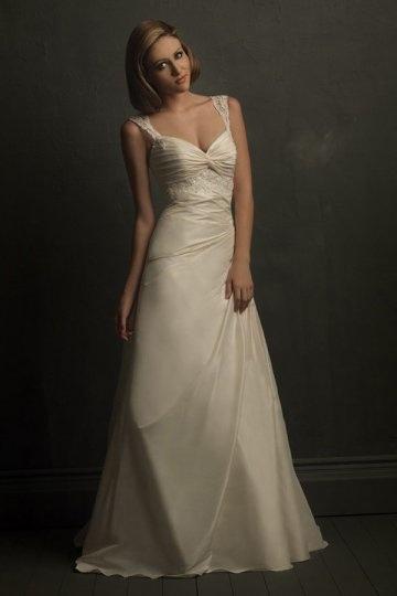 Vintages Elfenbein A Linie Brautkleider
