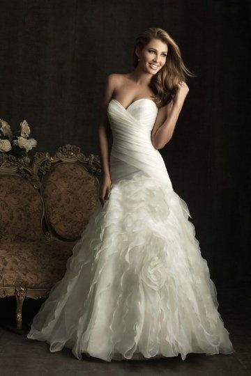 Schönes Herz Ausschnitt Trompote Brautkleid