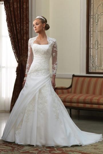 Modisches Brautkleider mit Ärmel