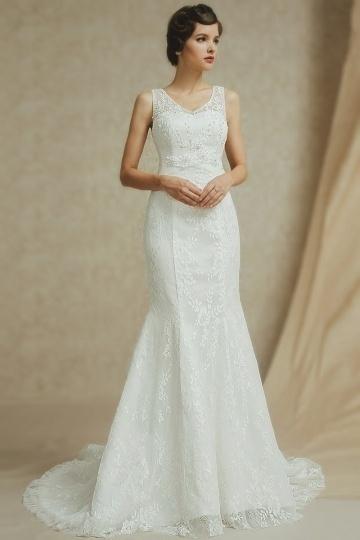 Schönes Ivory Meerjungfrau Brautkleider