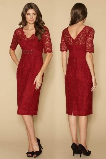 Elegantes Knielanges Rotes Abendkleider