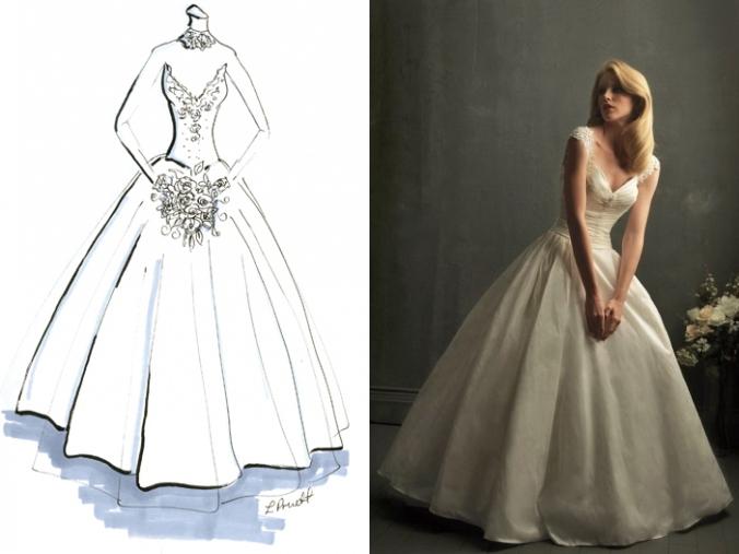Schönes V Ausschnitt Prinzessin Brautkleider
