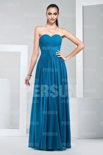 Schönes Langes Sweetheart Langes Blaues Abendkleider