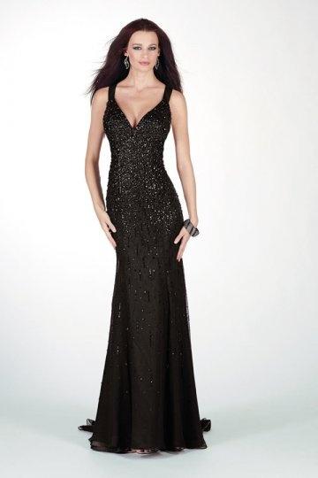 Schönes Schwarzes Langes Abendkleider