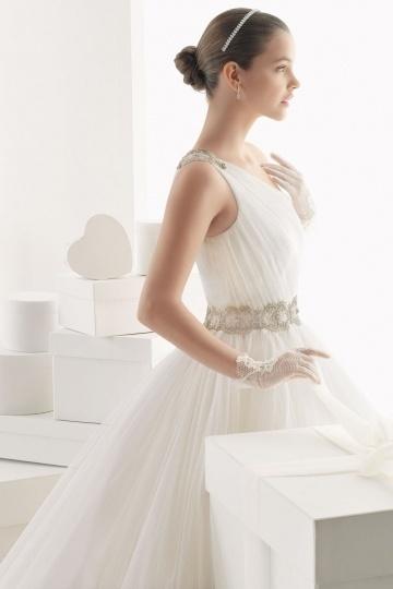 Modernes Ein Schulter Prinzessin Stil Brautkleider