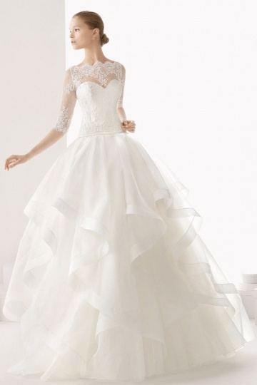 Schönes Elfenbein Prinzessin Stil Brautlkeider