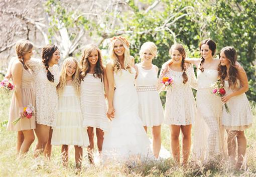 Nature-Inspired-Mix-n-Match-Chic-Lace-Bridesmaid-Dresses
