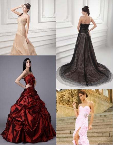 Elegante Farbige Brautkleider Online Günstig Sale