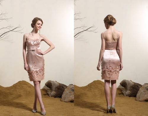 Sexy Rosa Kurz Etui Linie Abendkleid-Cocktailkleid