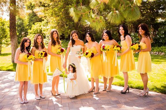 Brautjungfernkleid in Gelb
