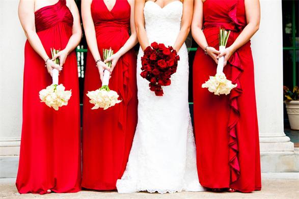 Brautjungfernkleider in Rot