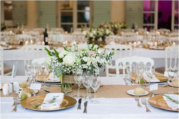 Weiß & Gold Farbgebung Hochzeit-PERSUN