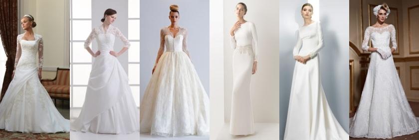 Brautkleider mit Ärmeln-Persunkleid Online