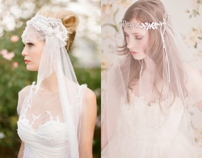 Hochzeit Braut Kopfoutfit