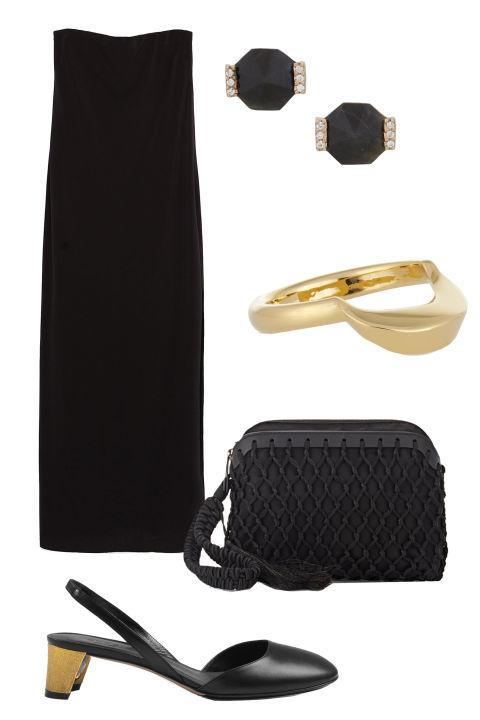 Klein schwarz Kleid-Persun