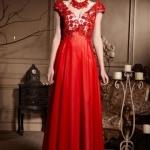 Elegantes Rotes Langes A Linie Abendkleider-Persunkleid.de