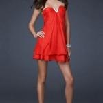 Sexy Rotes Minikleid-Persunkleid