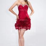 Sexy Trägerloses Rotes Cocktailkleid-Persunkleid