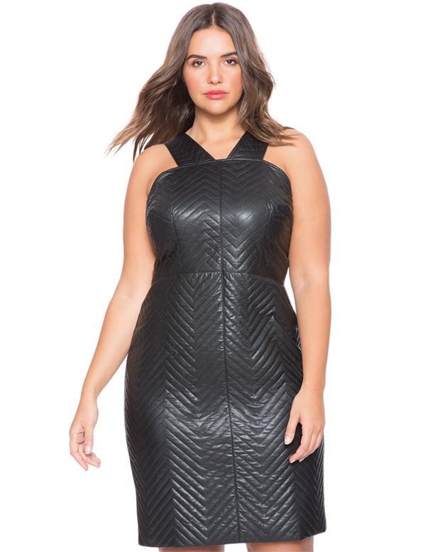 Basic Kleid für Jede Frau: Leder Mini Kleid   Persunkleid