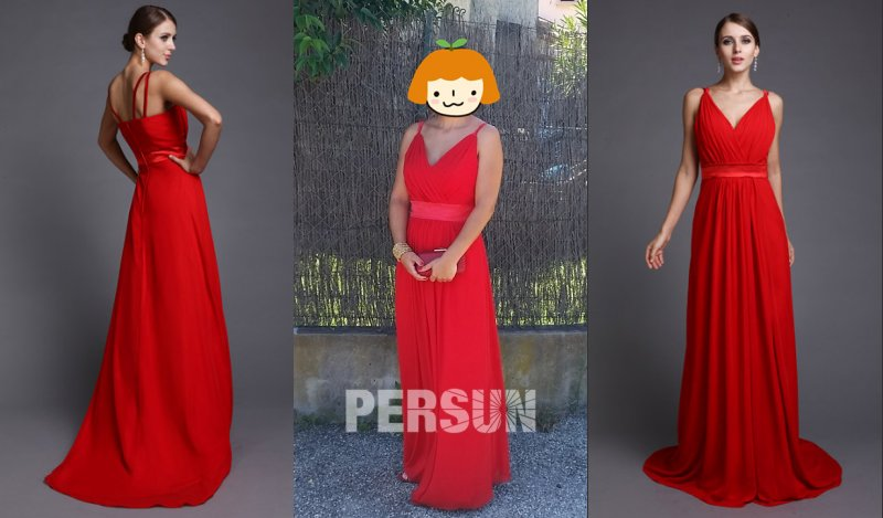 A Linie Rot Abendkleid Persunkleid