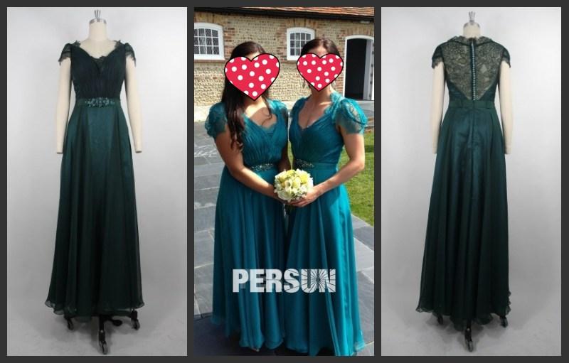Grün Abendkleid Lang