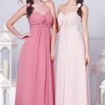 Schön Rosa Lang Sweetheart Brautjungfernkleid Abendkleid