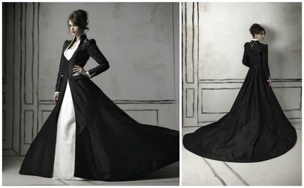 Luxus Brautkleider in Schwarz