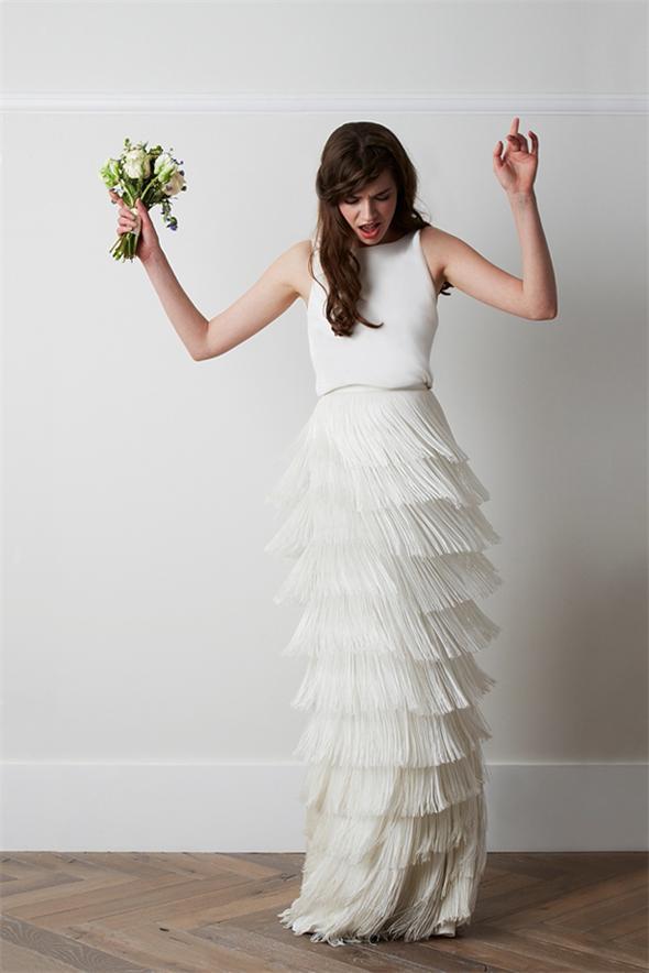 Neuer Hochzeitsmode Trends: Kleider mit Fransen | Persunkleid