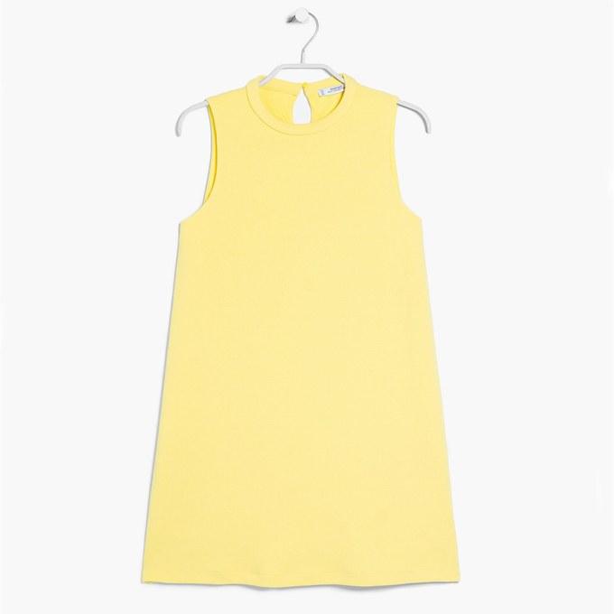 Mini-Sommerkleid-in-gelb