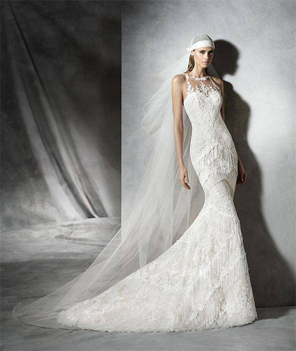 Modern-Meerjungfrau-Ivory-Brautkleider-Mit-Fransen