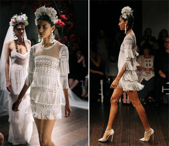 Modern-kurz-Fransen-Brautkleider
