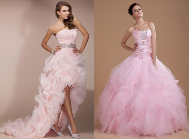 Günstige-Rosa-Brautkleider-Online