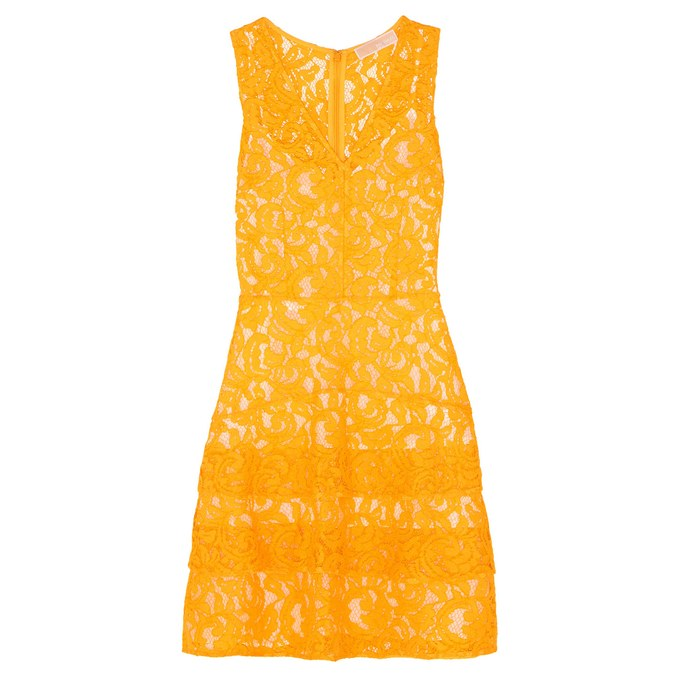 Spitze-Kleid-In-Gelb-Für-Sommer