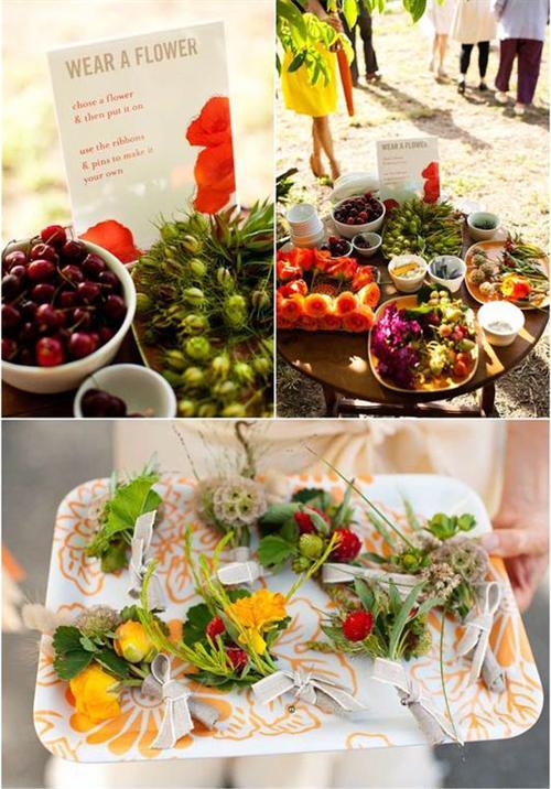 Blumen-Hochzeit-Idee-Vase